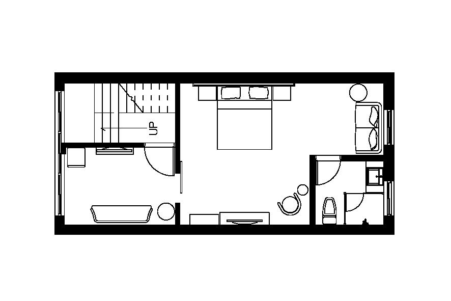 (懷適部屋)三樓雙人房平面圖