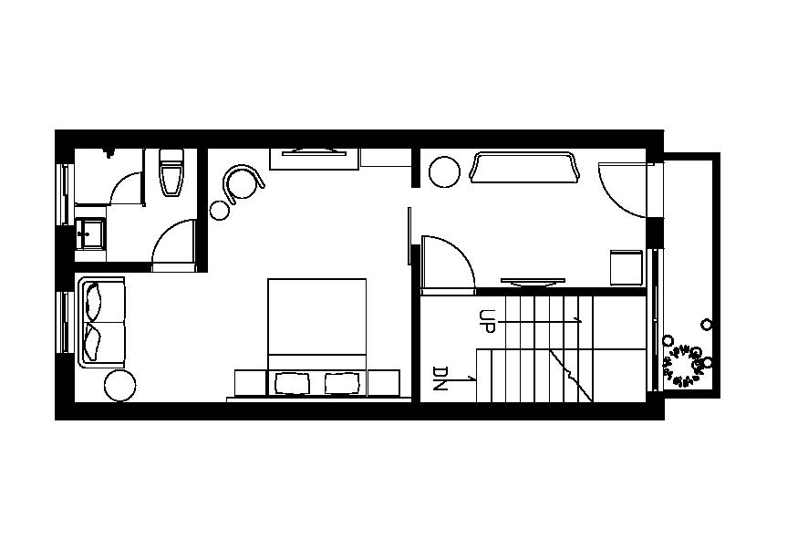 (懷適部屋)二樓雙人房平面圖