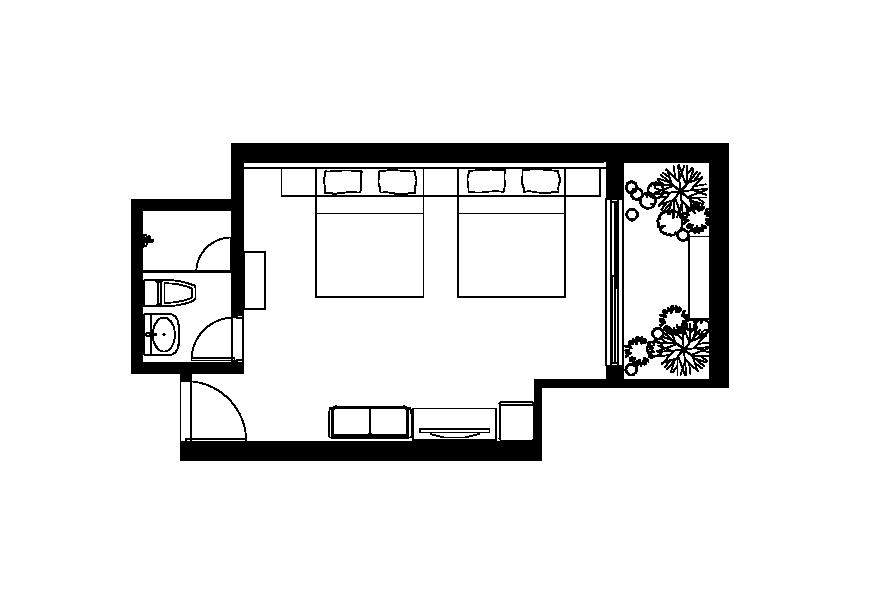(懷適部屋)一樓四人房平面圖
